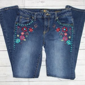 Lucky Jeans Cate Skinny Girl 14 Embroidered Floral